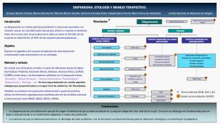 DISPAREUNIA. ETIOLOGÍA Y MANEJO TERAPEÚTICO.