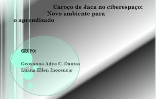 Caroço de Jaca no ciberespaço:              Novo ambiente para oaprendizado 