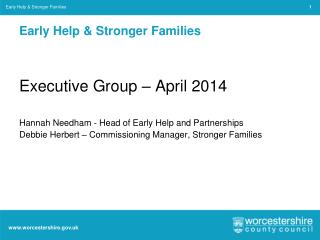 Early Help & Stronger Families