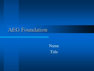 AEG Foundation