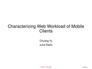 Characterizing Web Workload of Mobile Clients