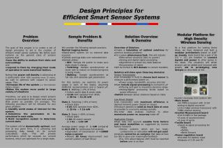 Design Principles for Efficient Smart Sensor Systems