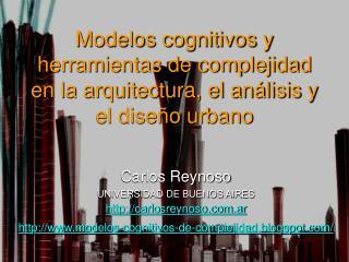 Carlos Reynoso UNIVERSIDAD DE BUENOS AIRES carlosreynoso.ar