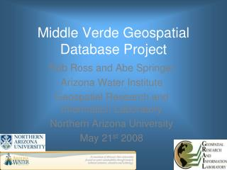 Middle Verde Geospatial Database Project
