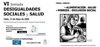 VI  Jornada  DESIGUALDADES SOCIALES  y  SALUD