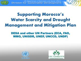 Supporting Morocco�s Water Scarcity and Drought Management and Mitigation Plan