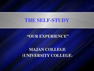 THE SELF-STUDY