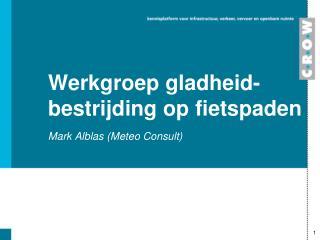 Werkgroep gladheid-bestrijding  op  fietspaden