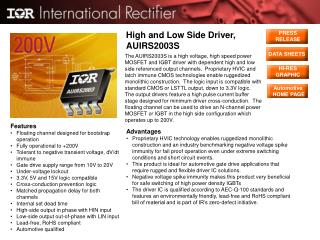 High and Low Side Driver, AUIRS2003S