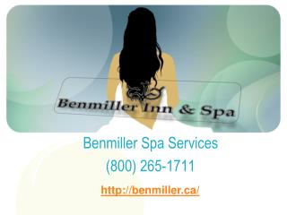 Welcome to Benmiller Inn and Spa
