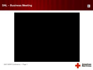 SNL – Business Meeting