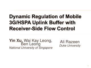 Dynamic Regulation of Mobile 3G/HSPA Uplink Buffer with Receiver-Side Flow Control