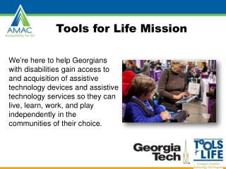 Tools for Life Mission