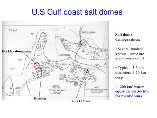 U.S Gulf coast salt domes