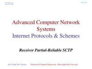 Advanced Computer Network Systems Internet Protocols & Schemes