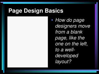Page Design Basics