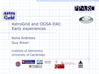 AstroGrid and OGSA-DAI:  Early experiences