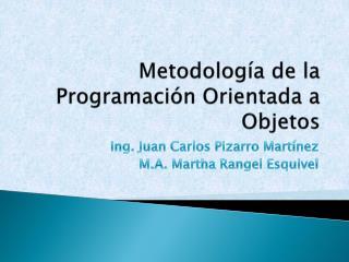 Metodología de la Programación Orientada a Objetos