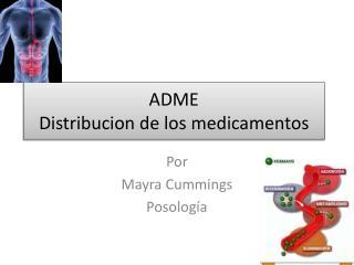 ADME Distribucion  de los  medicamentos