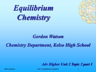 Equilibrium Chemistry