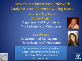 How to conduct a Social Network Analysis: a tool for empowering teams and work groups