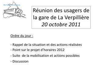 Réunion des usagers de la gare de La Verpillière 20 octobre 2011