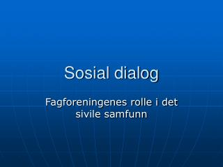 Sosial dialog