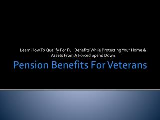 Pension Benefits For Veterans