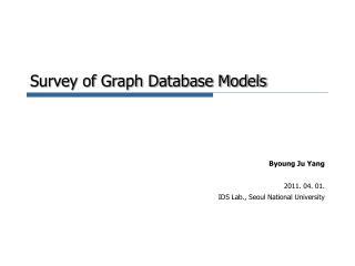 Survey of Graph Database Models