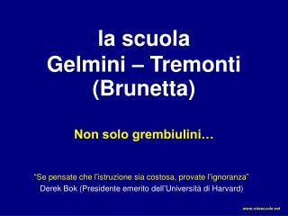 la scuola Gelmini – Tremonti (Brunetta)