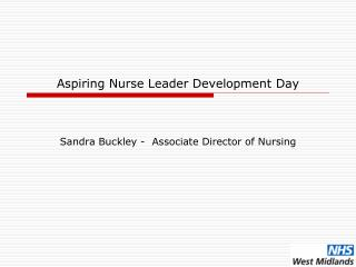 Aspiring Nurse Leader Development Day