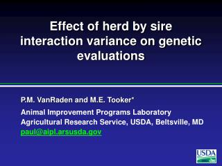 Effect of herd by sire interaction variance on genetic evaluations