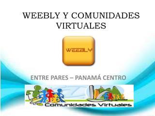WEEBLY Y COMUNIDADES VIRTUALES