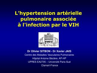 L hypertension art rielle pulmonaire associ e   linfection par le VIH