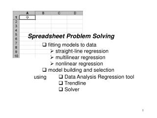 Spreadsheet Problem Solving