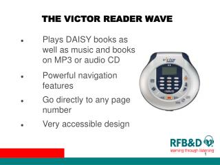 THE VICTOR READER WAVE