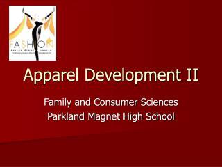 Apparel Development II