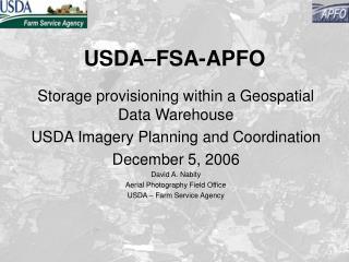 USDA–FSA-APFO
