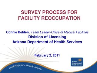 SURVEY PROCESS FOR FACILITY REOCCUPATION