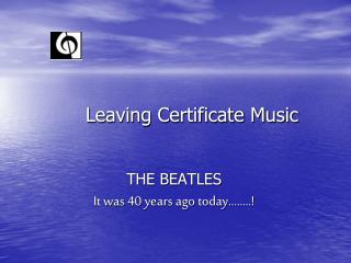 Leaving Certificate Music