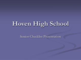 Hoven High School