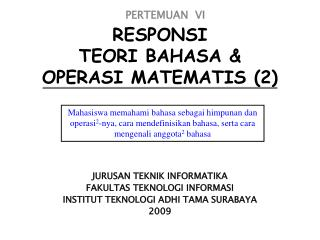 RESPONSI TEORI BAHASA & OPERASI MATEMATIS (2)