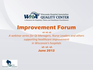 How do you know you have improved?      Our Topic for June 2012     