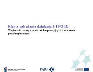 Działanie 5.1 Wspieranie rozwoju powiązań kooperacyjnych o znaczeniu ponadregionalnym