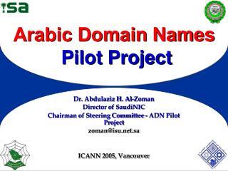 Arabic Domain Names Pilot Project