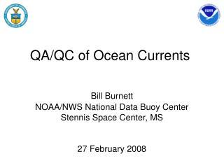 QA/QC of Ocean Currents