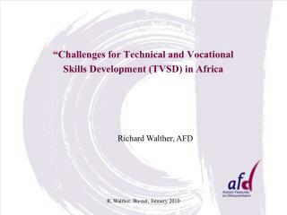 """""""Challenges for Technical and Vocational Skills Development (TVSD) in Africa"""