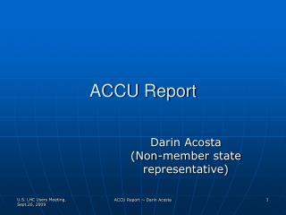 ACCU Report