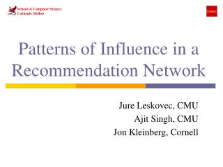 Patterns of Influence in a Recommendation Network
