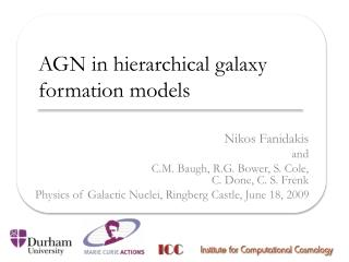 AGN in hierarchical galaxy formation models